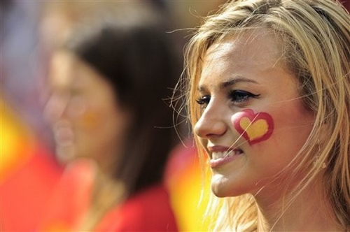 Even the Spanish fans looked well!