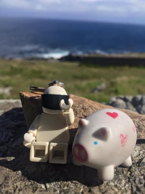 Stig and Pig at Malin Head