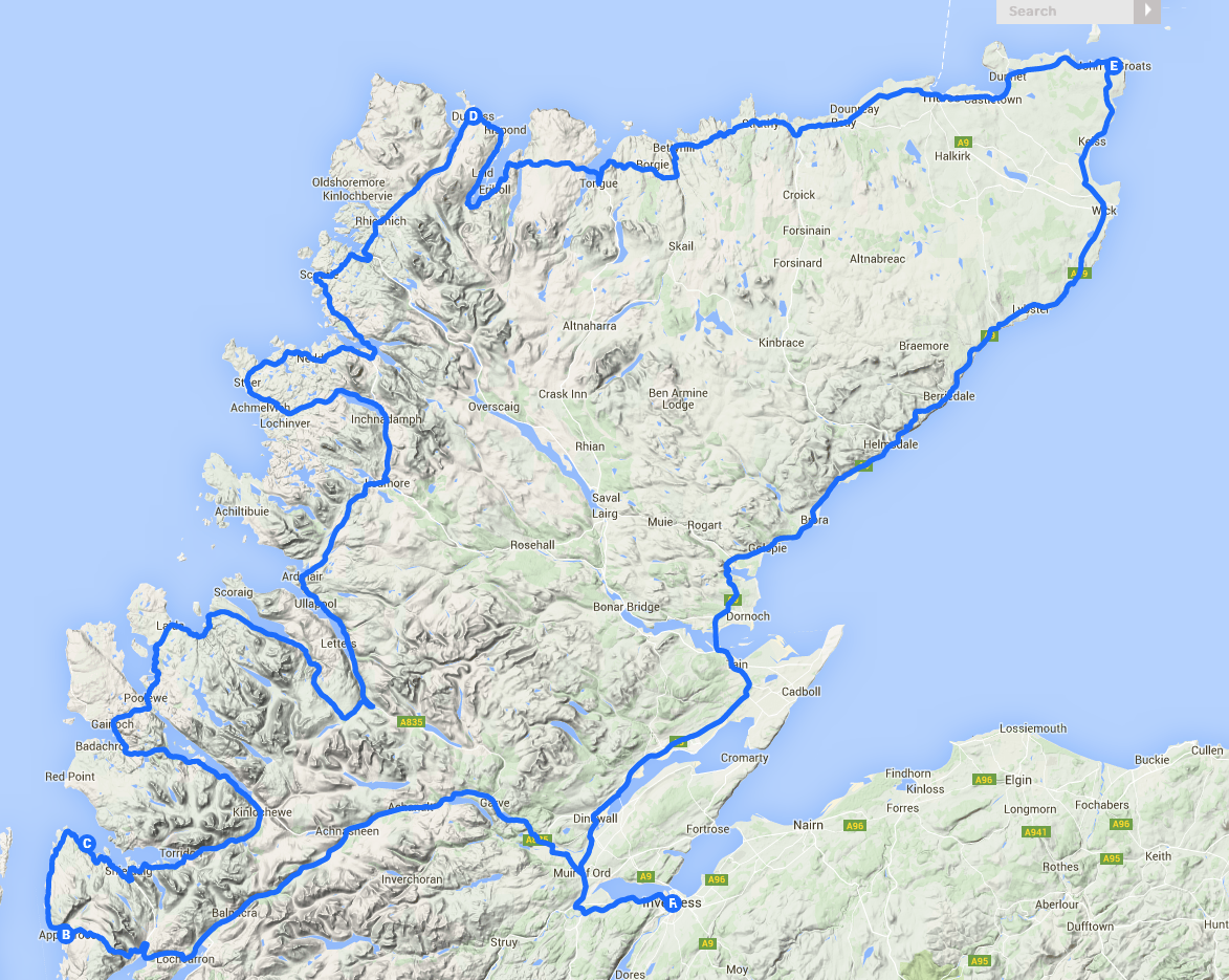 Scotland's NC500 Coastal Route