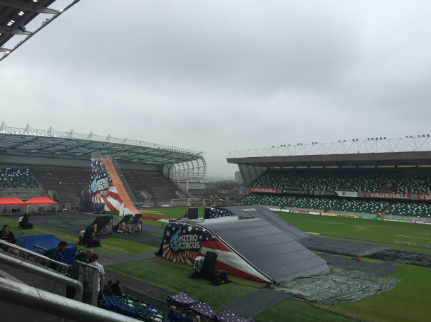 Nitro Circus at Belfast's Windsor Park 10th June 2106 - Before it got a little bit drier!