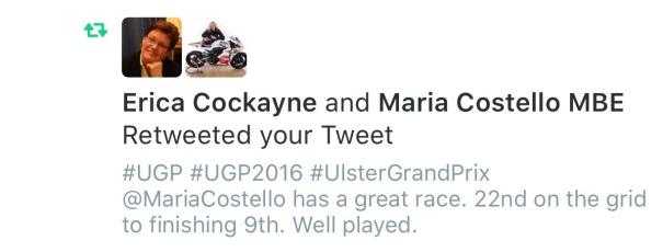 Maria Costello MBE  Reweet