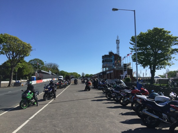 Isle of Man TT Races - Start Finisg Line - Practice Week - 30/06/2016