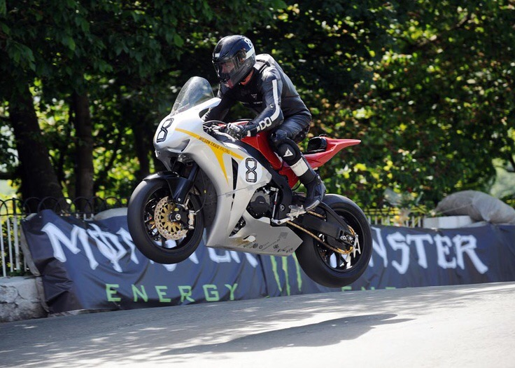 Guy Martin at the Isle of Man TT Races