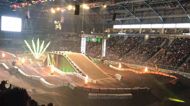 AXUK - High Flying - High Octane Stunts in the FreeStyle MotoCross (FMX) Sessions