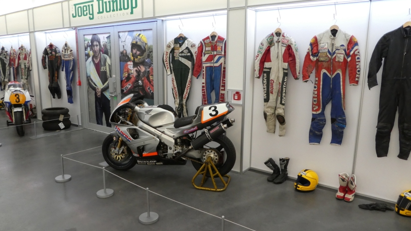 An outstanding Joey Dunlop Section at the Isle of Man Motor Museum