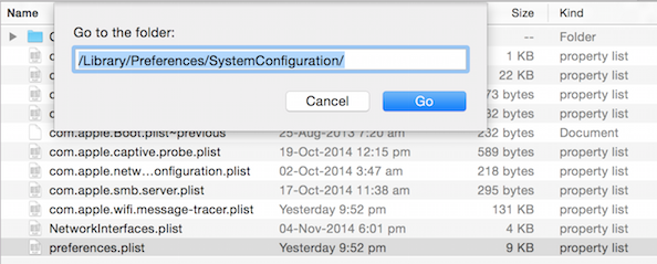 Finding the System Configuation Folder in MacOS