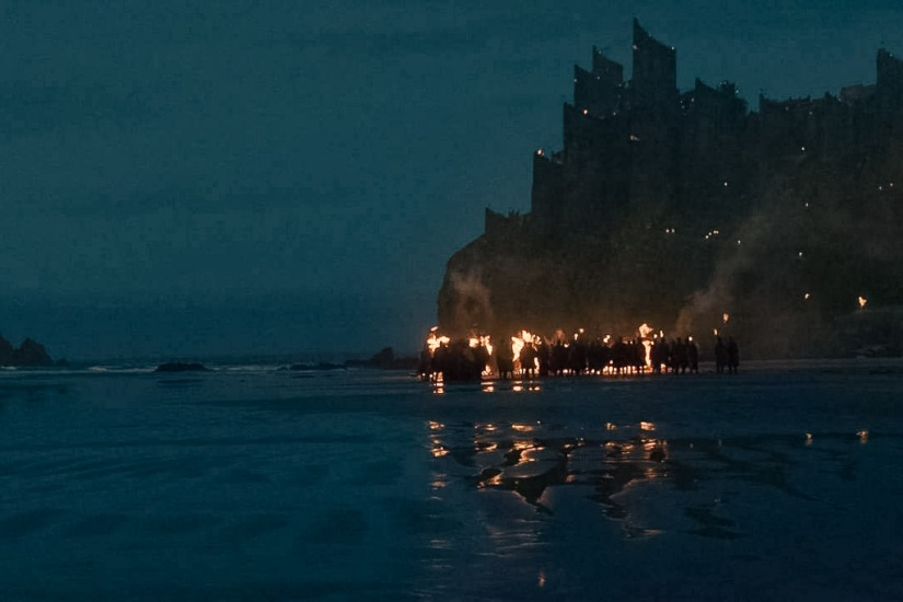 Northern Ireland Game of Thrones Filming Locations : Downhill Beach : Dragonstone : Image copyright of HBO, screencap from Screencapped.net