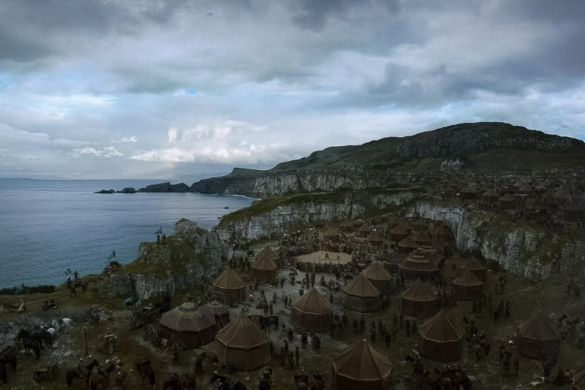Northern Ireland Game of Thrones Filming Locations : Larrybane Quarry : The Stormlands : Image copyright of HBO, screencap from Screencapped.net