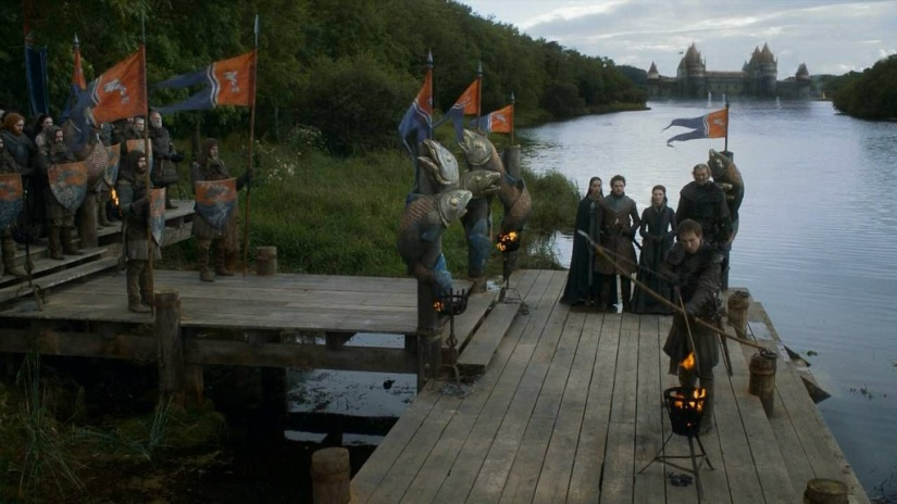 Northern Ireland Game of Thrones Filming Locations : Riverrun: River Quoile, Downpartrick : Image copyright of HBO, screencap from Screencapped.net