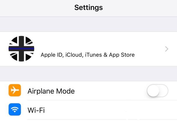 iOS10.3 Settings Profile Section