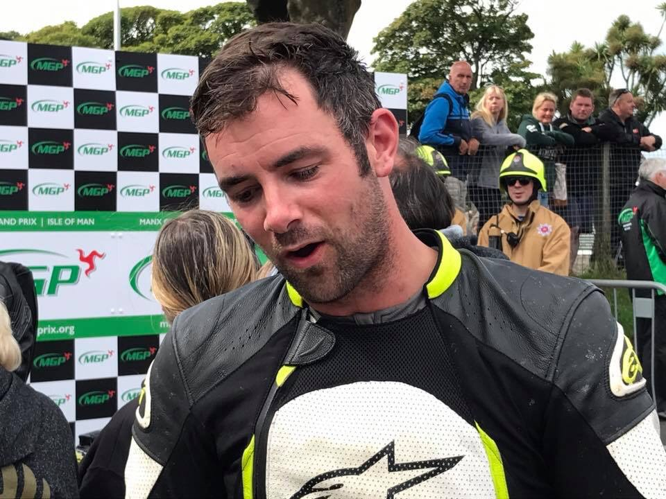 Barry Evans takes second in the 2017 Manx Gp Senior Race