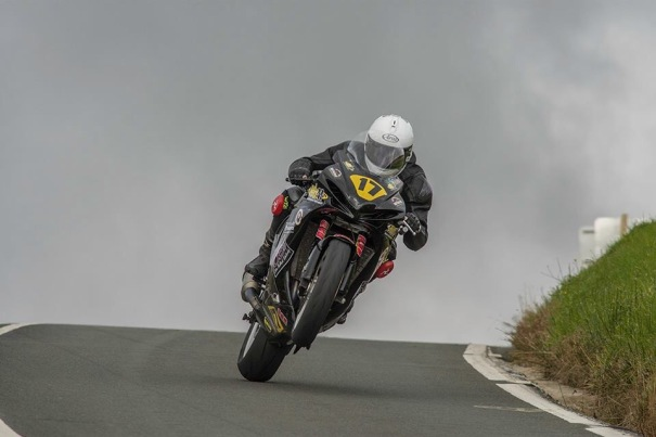 Michael Evans on his way to a 2017 Manx GP Double